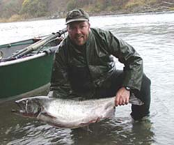 Elk River  Salmon Fishing, Mid-December is Prime Fishing